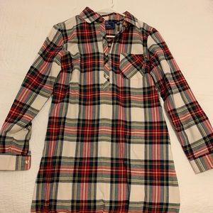 NWT Lauren James Plaid Shirt Dress